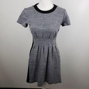 Madewell 4 Parkline Colorblock fit & flare dress